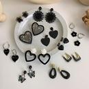 peach heart flower geometric fashion earrings wholesale jewelry Nihaojewelry NHMS404147