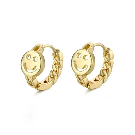 wholesale jewelry twist smiley face copper earrings nihaojewelry  NHAC404364's discount tags