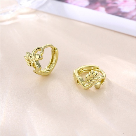 wholesale jewelry geometric wheat copper earrings nihaojewelry  NHAC404366's discount tags