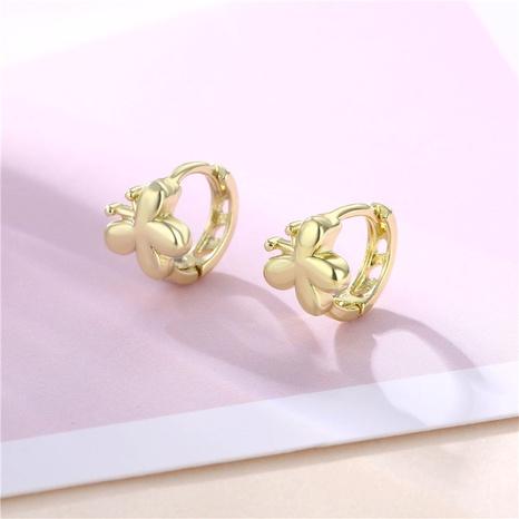 wholesale jewelry hollow butterfly copper earrings nihaojewelry  NHAC404368's discount tags