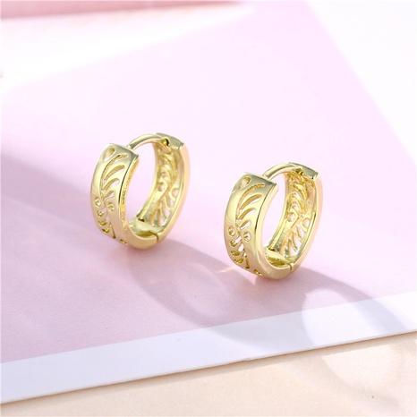 wholesale jewelry hollow geometric leaf copper earrings nihaojewelry  NHAC404369's discount tags