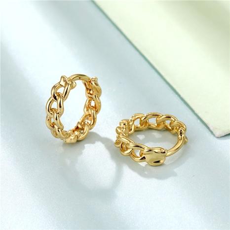 wholesale jewelry twist chain copper earring nihaojewelry  NHAC404372's discount tags