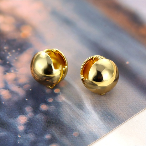 wholesale jewelry round spherical copper stud earrings nihaojewelry  NHAC404373's discount tags