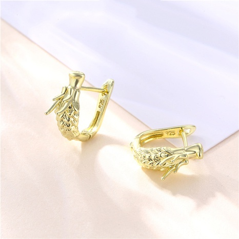 wholesale jewelry hollow loong head copper earrings nihaojewelry  NHAC404374's discount tags