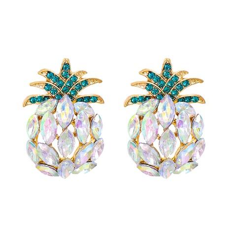 rhinestone crystal pineapple fruit earrings wholesale jewelry Nihaojewelry NHJJ404392's discount tags