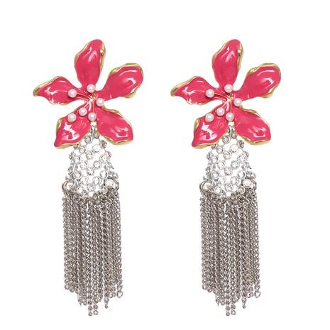 exaggerated flower tassel earrings wholesale jewelry Nihaojewelry NHJJ404394's discount tags