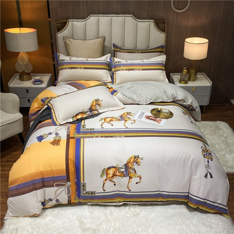 wholesale war horse printing bedding four-piece set nihaojewelry  NHDYJ404494's discount tags