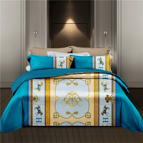 large version geometric printing brushed bedding four-piece set wholesale Nihaojewelry NHDYJ404489's discount tags