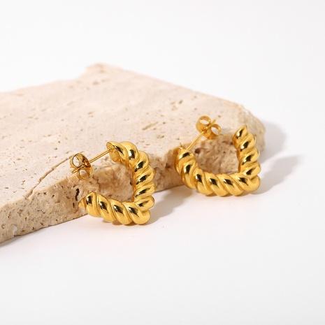 fashion stainless steel twist open triangle earrings wholesale Nihaojewelry  NHJIE404504's discount tags
