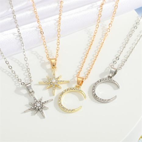 fashion star moon geometric pendant necklace wholesale Nihaojewelry NHGO404533's discount tags