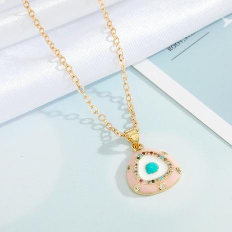 fashion triangle diamond  geometric pendant necklace wholesale Nihaojewelry NHGO404542's discount tags