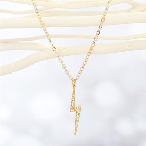 fashion lightning diamond necklace wholesale Nihaojewelry NHGO404566's discount tags
