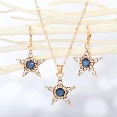 fashion diamond star pendant necklace earrings wholesale Nihaojewelry NHGO404571's discount tags