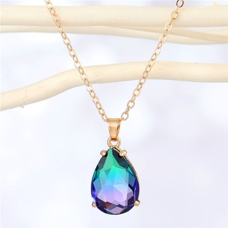 fashion irregular water drop resin pendant necklace wholesale Nihaojewelry NHGO404580's discount tags