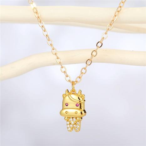 fashion geometric gesture shape gold necklace wholesale Nihaojewelry NHGO404582's discount tags