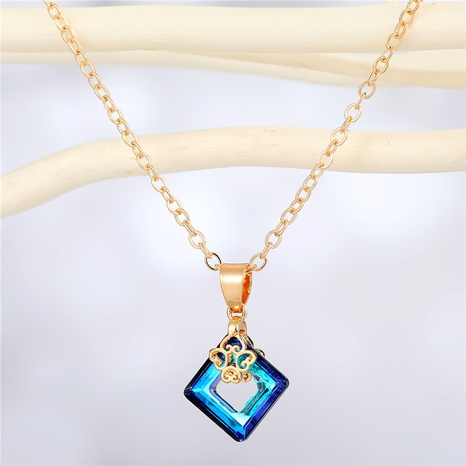 fashion transparent square resin pendant necklace wholesale Nihaojewelry NHGO404583's discount tags