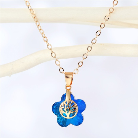 fashion flower resin pendant tree pattern necklace wholesale Nihaojewelry NHGO404584's discount tags
