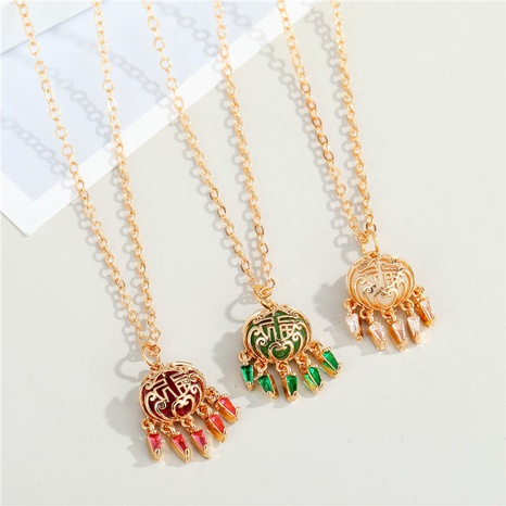 fashion multicolor concentric lock necklace wholesale Nihaojewelry NHGO404588's discount tags