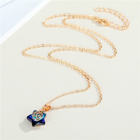 fashion star rose resin pendant necklace wholesale Nihaojewelry NHGO404589's discount tags