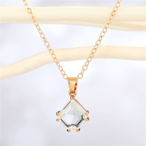 fashion water drop multi-color edging necklace wholesale Nihaojewelry NHGO404590's discount tags