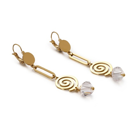 New geometric mosquito coil long earrings wholesale Nihaojewelry  NHKAL404710's discount tags