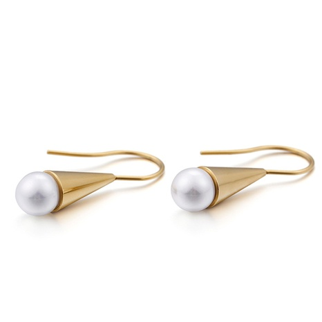 new shell pearl stainless steel ear hook wholesale Nihaojewelry  NHKAL404770's discount tags