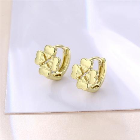wholesale jewelry geometric four-leaf clover earrings nihaojewelry  NHAC405049's discount tags
