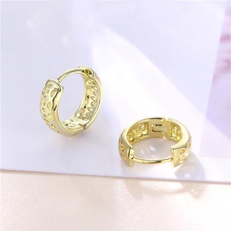 wholesale jewelry bohemian style hollow geometric C-shaped earrings nihaojewelry  NHAC405050's discount tags