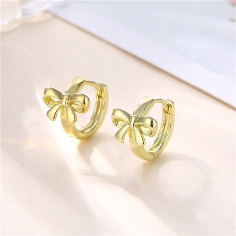 wholesale jewelry glossy bow earrings nihaojewelry  NHAC405051's discount tags