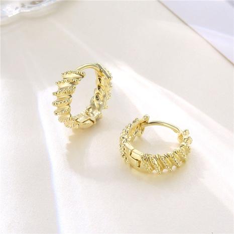 wholesale jewelry twist pattern C-shaped earrings nihaojewelry  NHAC405055's discount tags