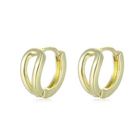 wholesale jewelry hollow geometric C-shaped earrings nihaojewelry  NHAC405056's discount tags