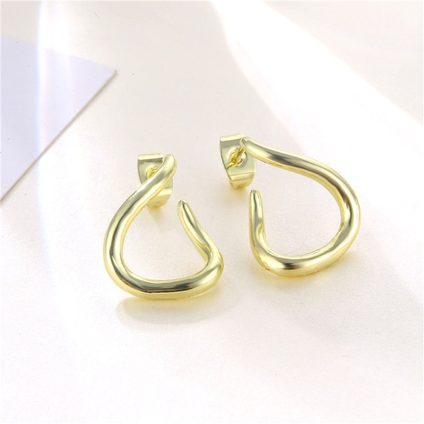 wholesale jewelry distorted C-shaped stud earrings nihaojewelry  NHAC405057's discount tags