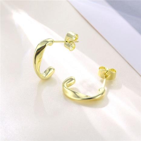 wholesale jewelry twist C-shaped stud earrings nihaojewelry  NHAC405059's discount tags