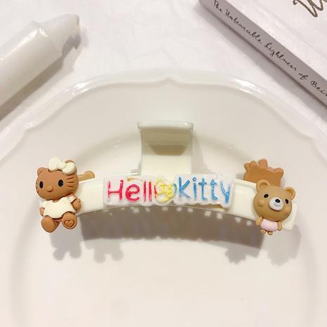 new fashion cartoon kitten bear catching hairpin wholesale nihaojewelry  NHQYF405067's discount tags