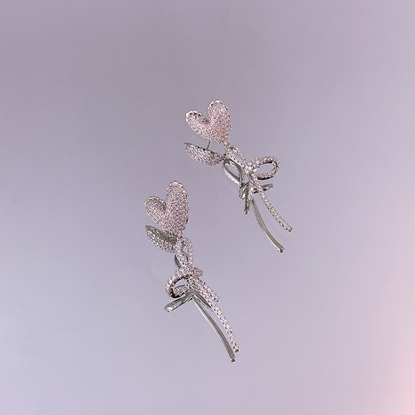 Love Bowknot Earrings Long Fringed Balloon S925 Silver Needle earrings NHQC405257's discount tags