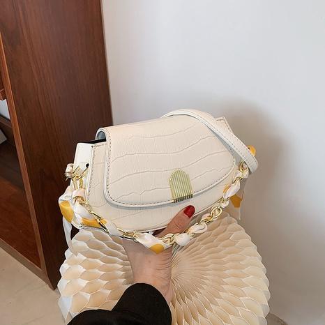 fashion stone pattern silk handle messenger bag wholesale Nihaojewelry  NHGN405952's discount tags