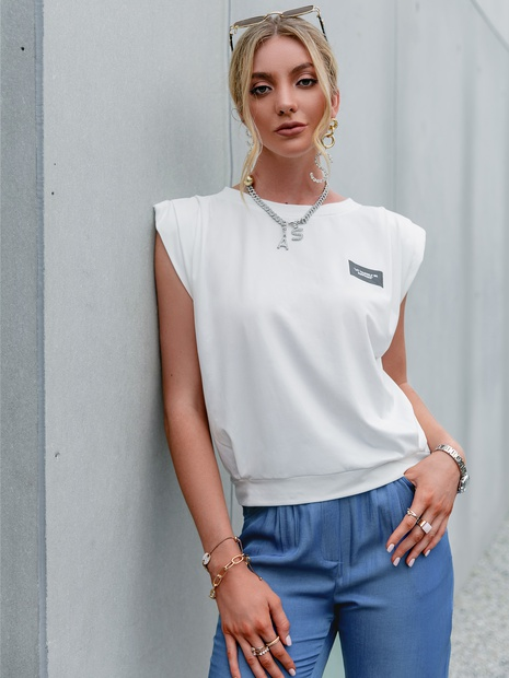 casual round neck sleeveless tops wholesale Nihaojewelry NHDE406077's discount tags