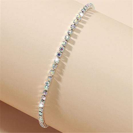 bracelet à une rangée de strass colorés brillants de mode en gros Nihaojewelry NHIQ406311's discount tags
