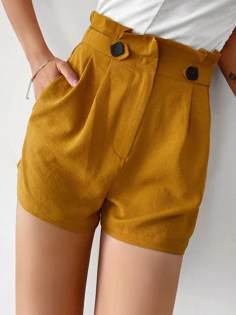 Großhandel gelbe Shorts für Damen Sommerkleidung NHDE406122's discount tags