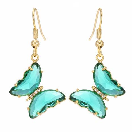 Großhandel Schmuck Schmetterling Glas Kristall Anhänger Ohrringe nihaojewelry NHUW406139's discount tags