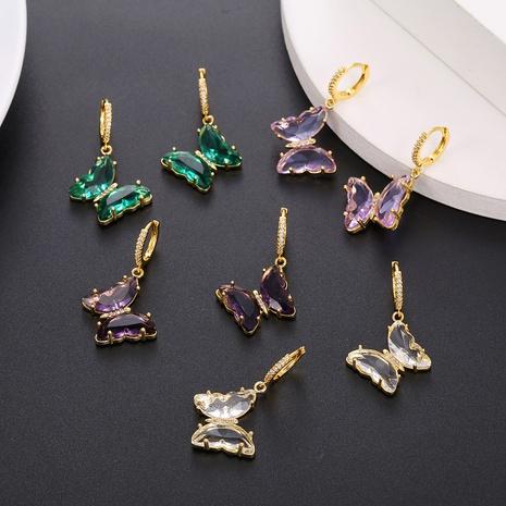 Großhandel schmuck glas kristall schmetterling anhänger ohrringe nihaojewelry NHUW406140's discount tags