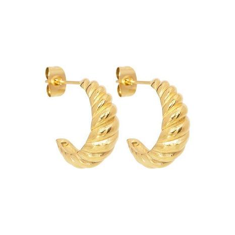 Großhandel Schmuck Croissant verdrehter Faden C-förmige Kupferohrstecker nihaojewelry NHUW406144's discount tags