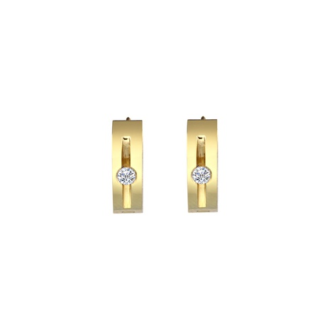 Großhandel Schmuck geometrischer Kreis Edelstahl Ohrringe nihaojewelry NHRV406170's discount tags