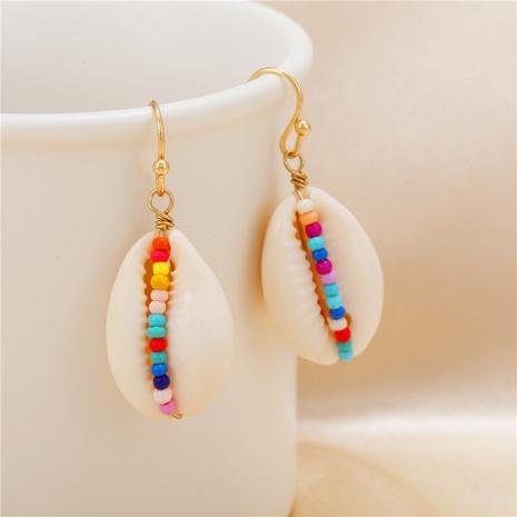 wholesale jewelry bohemian style color beads shell pendant earrings nihaojewelry  NHZU406220's discount tags