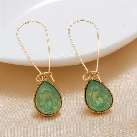 Großhandel Schmuck grüne Wassertropfenform Anhänger Ohrringe nihaojewelry NHZU406253's discount tags