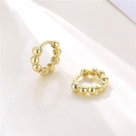 18K Kupfer geometrische runde Perlen Erbsen Ohrringe Großhandel nihaojewelry NHAC406357's discount tags