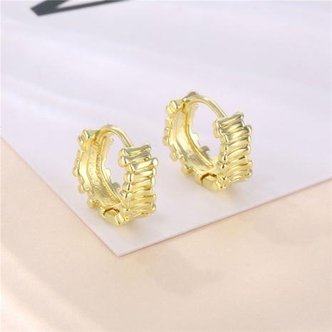 18K unregelmäßige Goldschicht gestaffelte trapezförmige Ohrringe Großhandel nihaojewelry NHAC406363's discount tags
