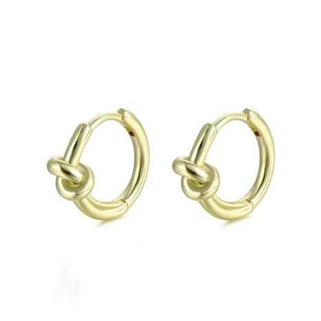 kreative 18K Gold geknotete Seilknotenohrringe Großhandel nihaojewelry NHAC406364's discount tags