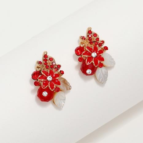 Großhandel Schmuck Shell Rose Kristall Ohrstecker nihaojewelry NHKQ406406's discount tags
