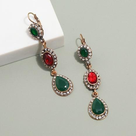Großhandel Schmuck böhmischen Stil Farbe Diamantform Anhänger Ohrringe nihaojewelry NHKQ406411's discount tags